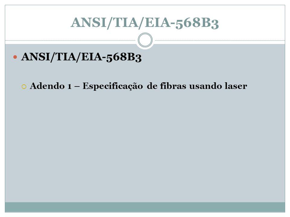 ANSI/TIA/EIA-568B3 Adendo 1 – Especificação de fibras usando laser