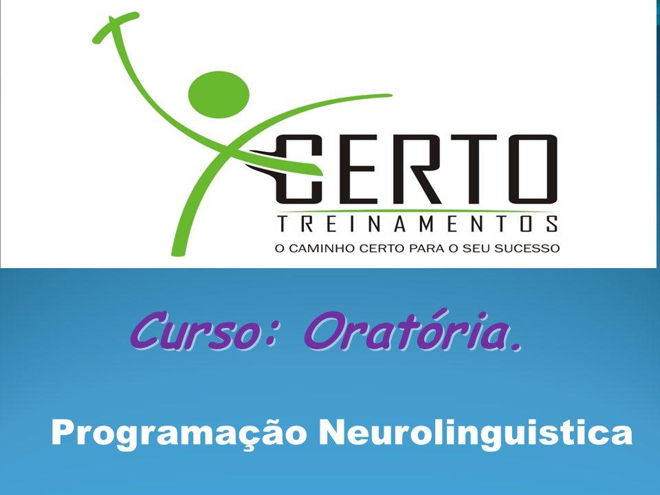 Programação Neurolinguistica Curso: Oratória.