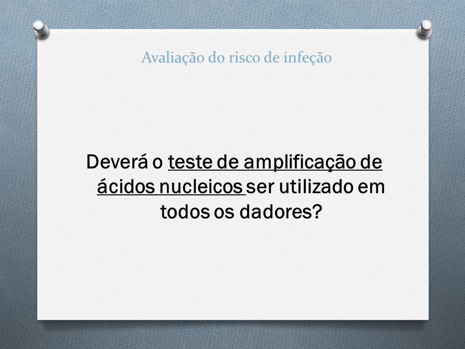 Deverá o teste de amplificação de ácidos nucleicos ser utilizado em todos os dadores? Avaliação do risco de infeção