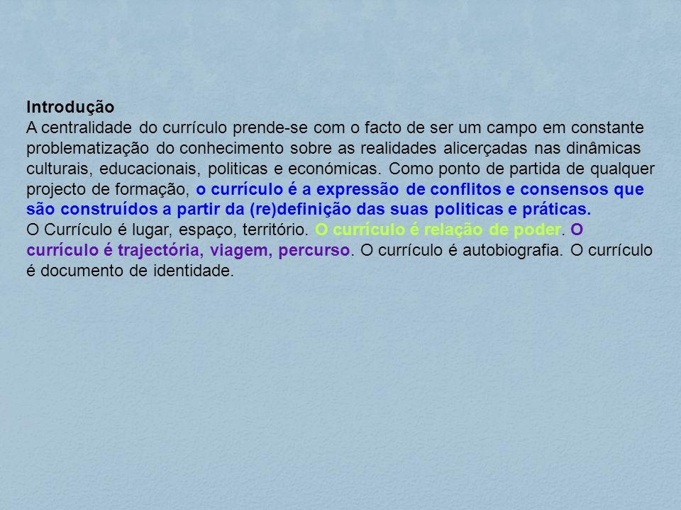 Objectivos: - Compreender o conceito de currículo.