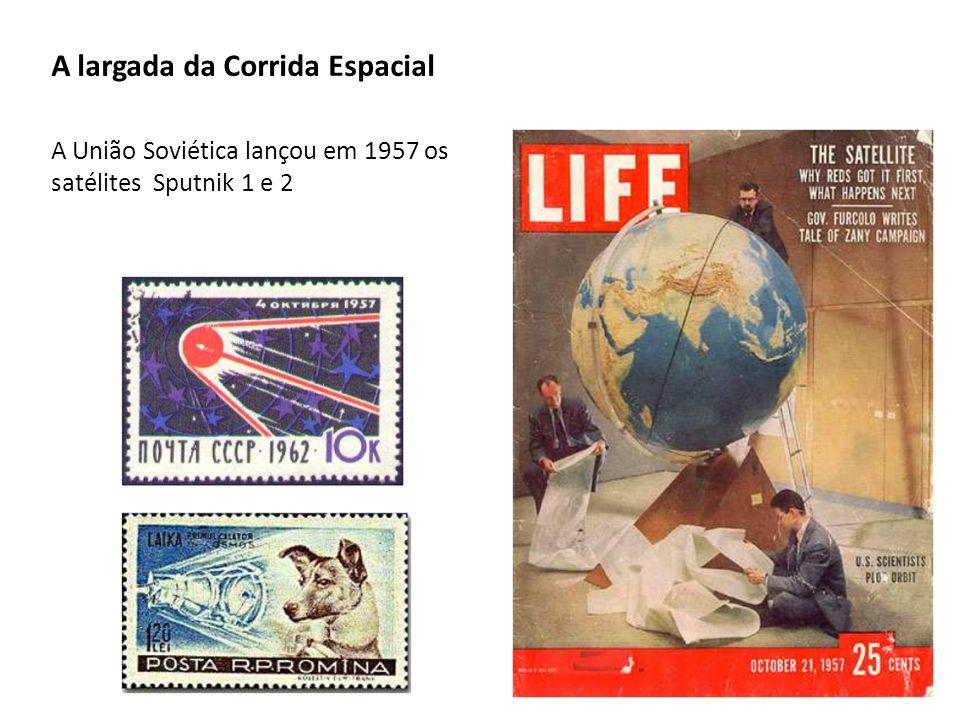 A largada da Corrida Espacial A União Soviética lançou em 1957 os satélites Sputnik 1 e 2