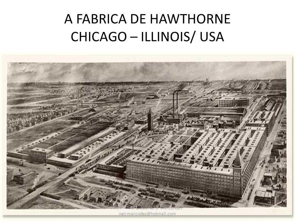 O CONTEXTO DA EXPERIÊNCIA DE HAWTHORNE A Western Eletric fabricava equipamentos e componentes telefônicos.Desenvolvia uma política de pessoal que valorizava o bem estar dos operários,com bons salários e condições satisfatórias de trabalho.