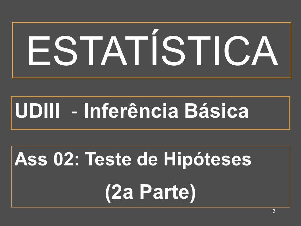 3 OBJETIVOS ESPECÍFICOS Testar hipóteses estatísticas utilizando teste de hipótese clássico.