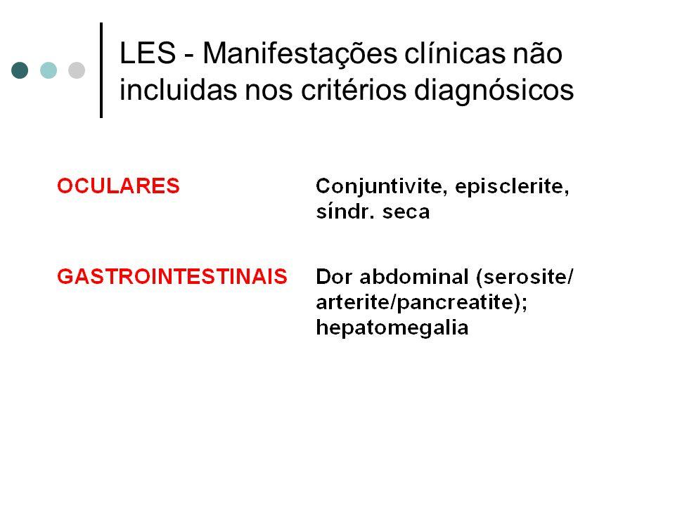 LES - Manifestações clínicas não incluidas nos critérios diagnósicos