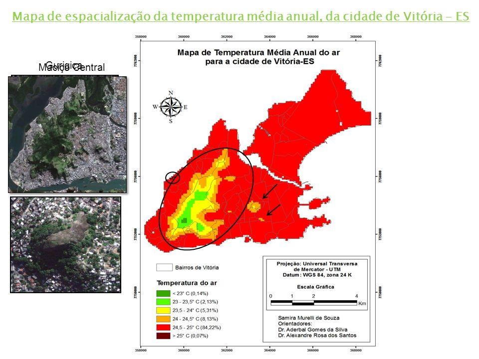 A utilização do SIG mostrou-se eficiente para o mapeamento da vegetação urbana, propiciando uma visualização espacial detalhada das classes analisadas.