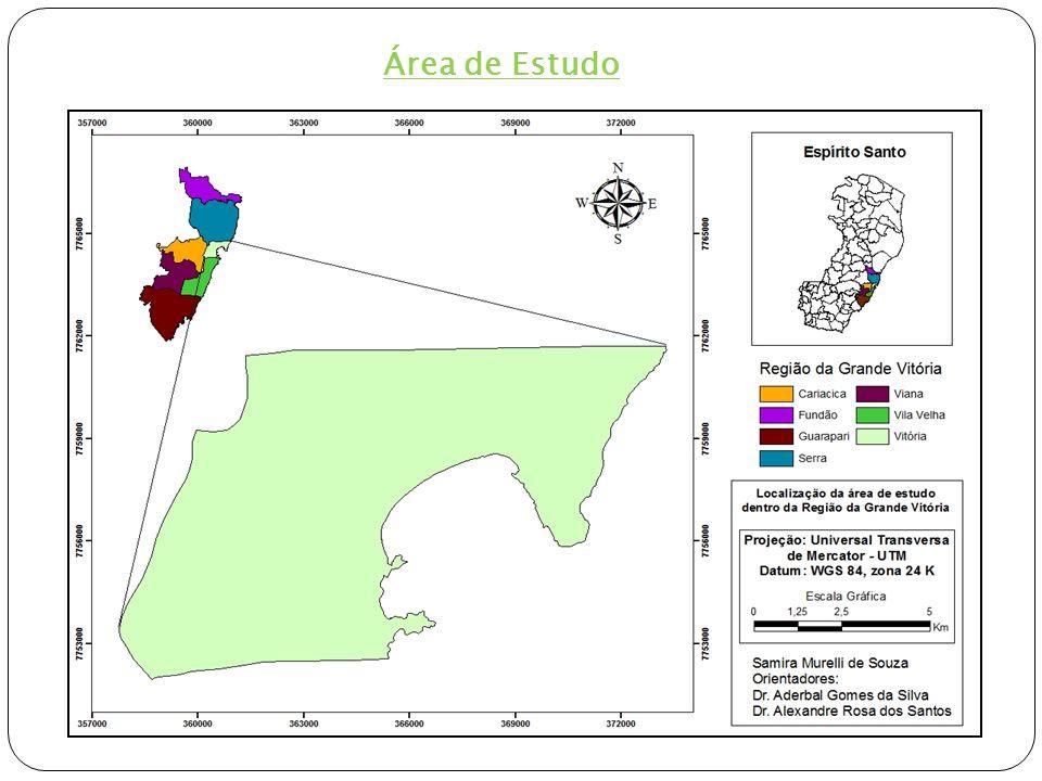 2.2 Mapeamento e distribuição da vegetação de Vitória Fotointerpretação – digitalização de 17 classes, na escala de 1:1.500 Ortofotomosaico (ano 2007), escala 1:35.000, resolução espacial = 1m, IEMA.