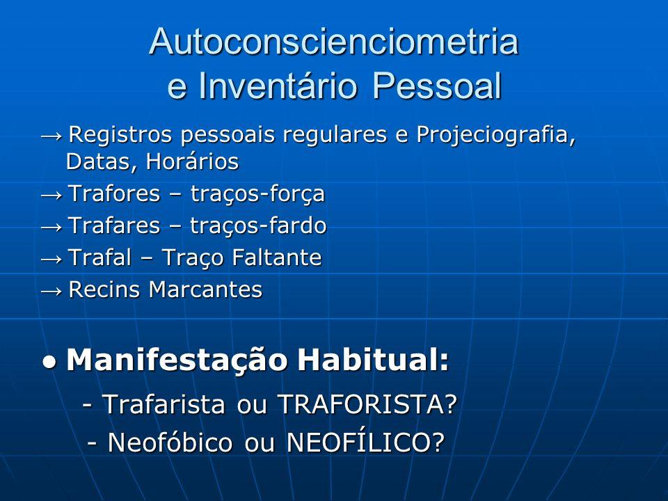 Autoconscienciometria e Inventário Pessoal Registros pessoais regulares e Projeciografia, Datas, Horários Registros pessoais regulares e Projeciografi