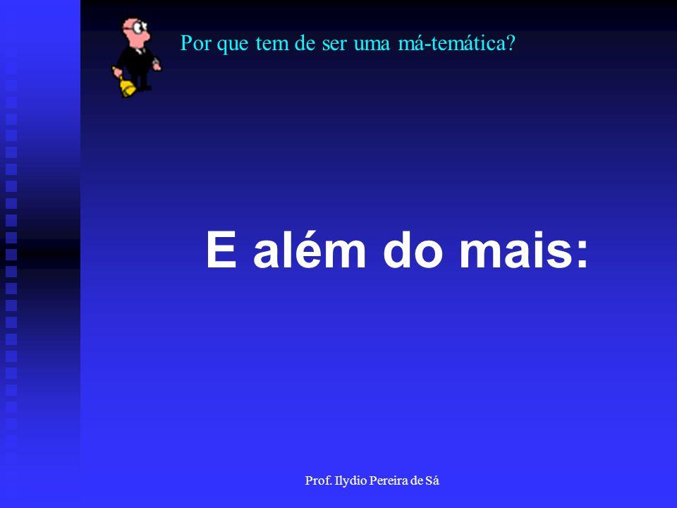 Por que tem de ser uma má-temática? Prof. Ilydio Pereira de Sá 14 - Veja quanto tempo você perdeu fazendo isso!!!!