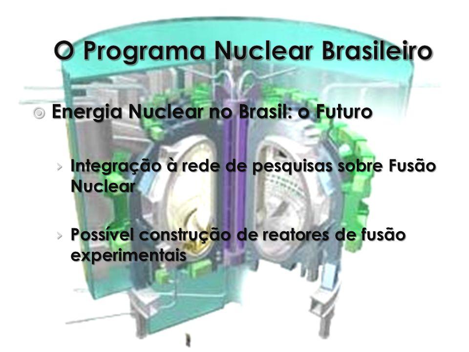 Energia Nuclear no Brasil: o Futuro Energia Nuclear no Brasil: o Futuro Integração à rede de pesquisas sobre Fusão Nuclear Integração à rede de pesqui