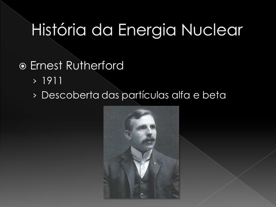 Ernest Rutherford 1911 Descoberta das partículas alfa e beta