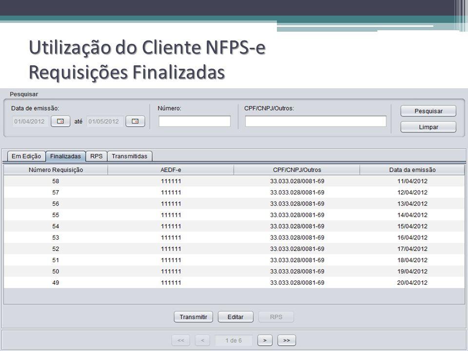 Utilização do Cliente NFPS-e Requisições Finalizadas