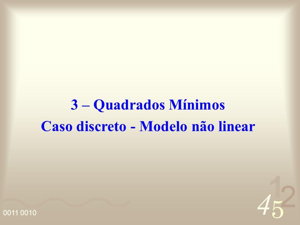 4 2 5 1 Existem casos, onde o diagrama de dispersão de uma função indica que os dados devem ser ajustados por uma função que não é linear com relação aos parâmetros j.