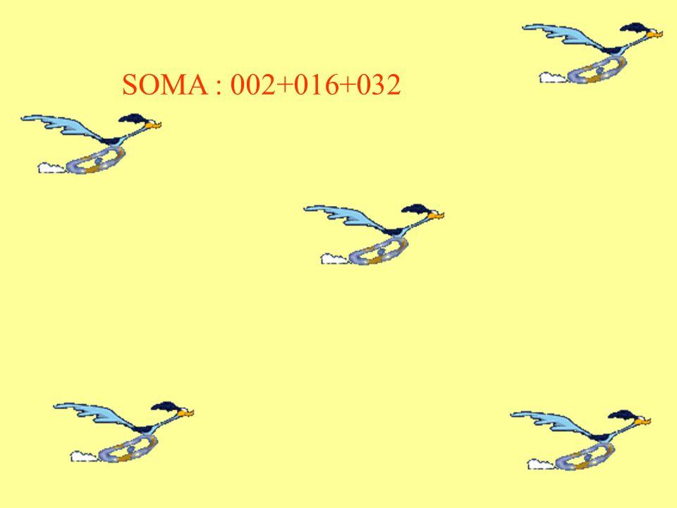 SOMA : 002+016+032