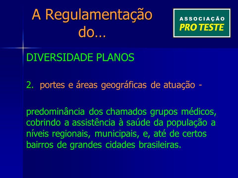 A Regulamentação do… DIVERSIDADE PLANOS 2. 2.