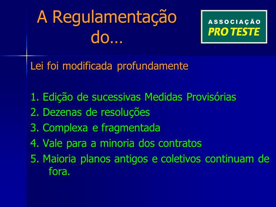 A Regulamentação do… DIVERSIDADE PLANOS 2.2.