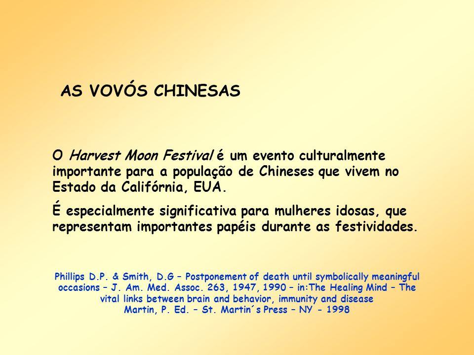 AS VOVÓS CHINESAS O Harvest Moon Festival é um evento culturalmente importante para a população de Chineses que vivem no Estado da Califórnia, EUA. É