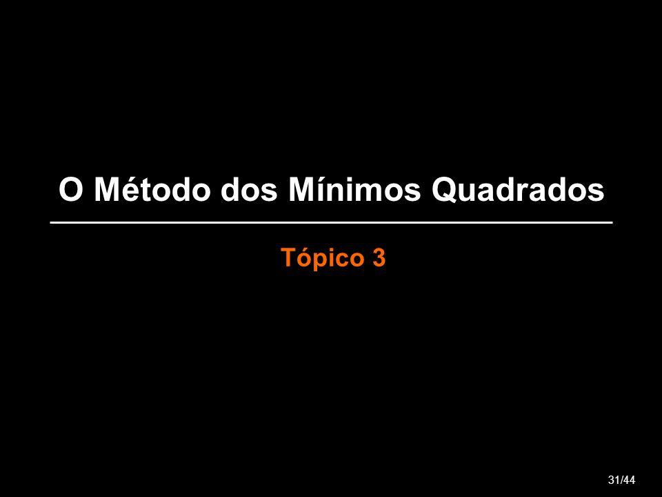 O Método dos Mínimos Quadrados Tópico 3 31/44