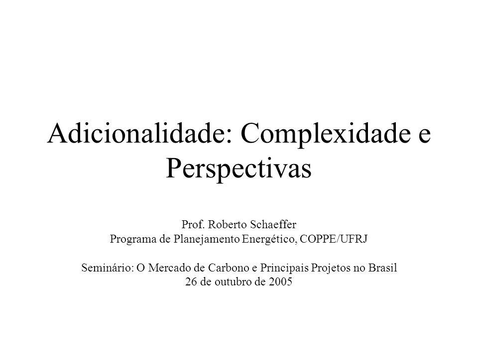 Adicionalidade: Complexidade e Perspectivas Prof.