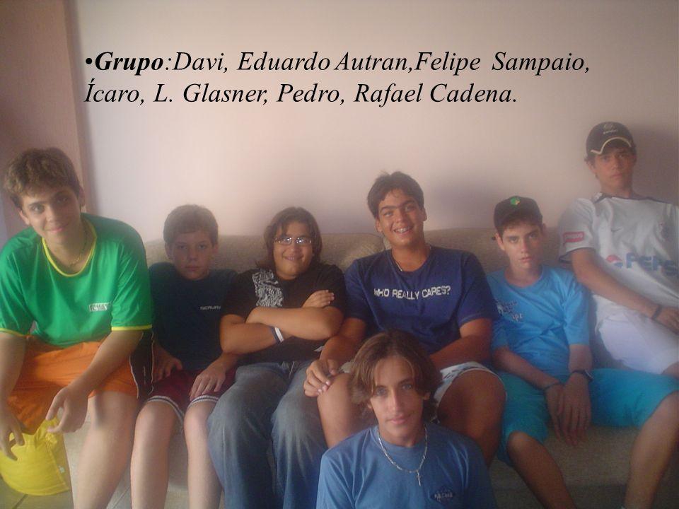 Grupo:Davi, Eduardo Autran,Felipe Sampaio, Ícaro, L. Glasner, Pedro, Rafael Cadena.