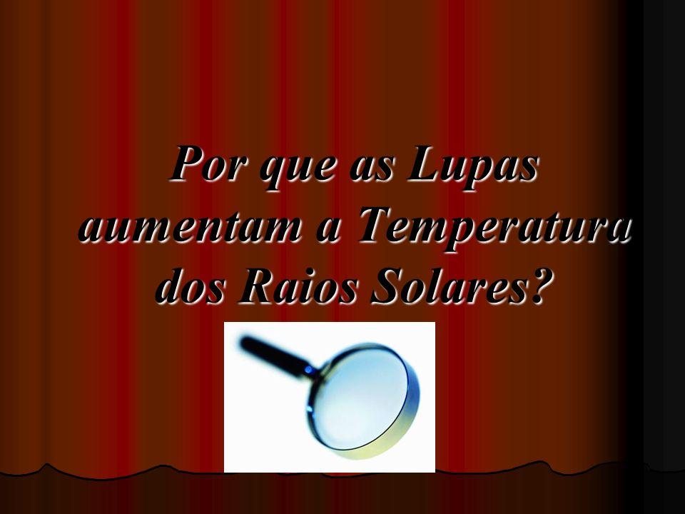 Por que as Lupas aumentam a Temperatura dos Raios Solares?