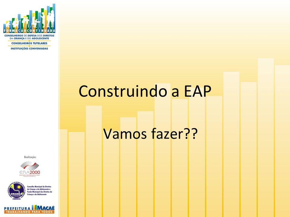 Construindo a EAP Vamos fazer??