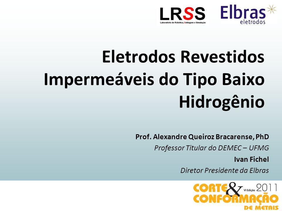 Eletrodos Revestidos Impermeáveis do Tipo Baixo Hidrogênio Prof. Alexandre Queiroz Bracarense, PhD Professor Titular do DEMEC – UFMG Ivan Fichel Diret
