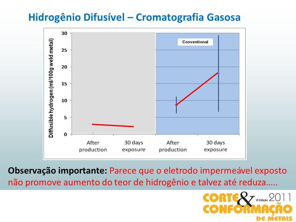 Observação importante: Parece que o eletrodo impermeável exposto não promove aumento do teor de hidrogênio e talvez até reduza…..