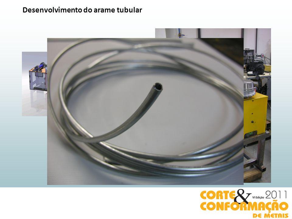 Desenvolvimento do arame tubular