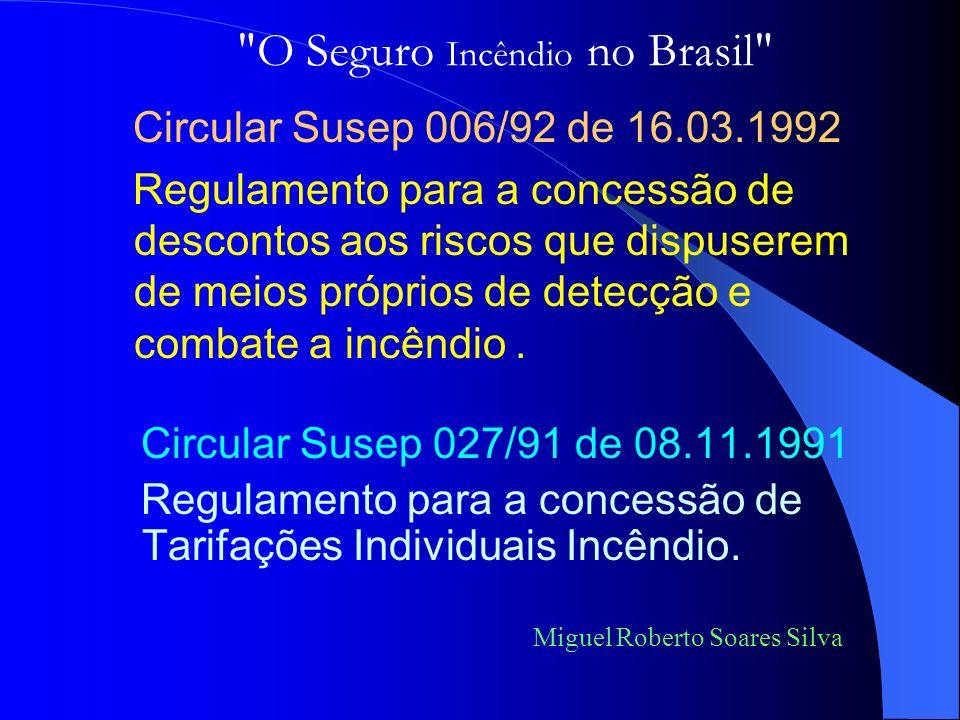 Circular Susep 027/91 de 08.11.1991 Regulamento para a concessão de Tarifações Individuais Incêndio.