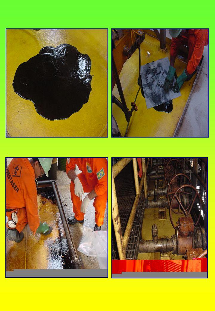 Resultados dos Testes As limpezas realizadas tiveram resultados altamente positivos, mesmo em condições mais severas, como foi no caso do skid impregnado por óleo.