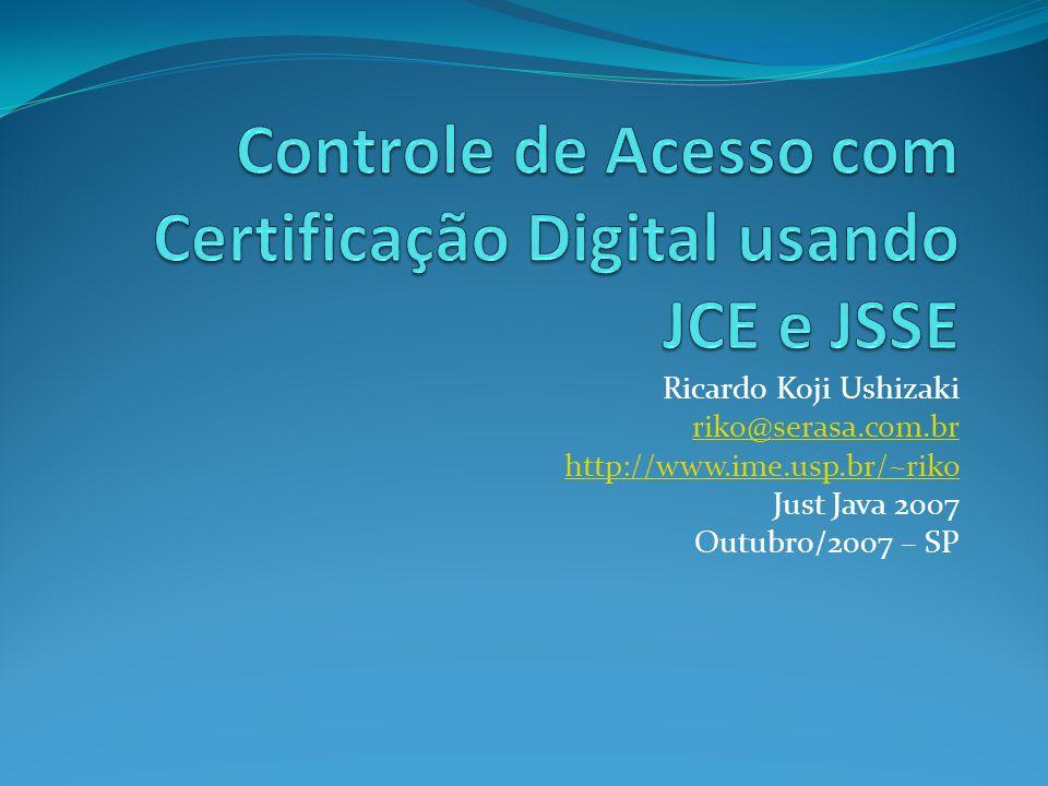 Ricardo Koji Ushizaki riko@serasa.com.br http://www.ime.usp.br/~riko Just Java 2007 Outubro/2007 – SP