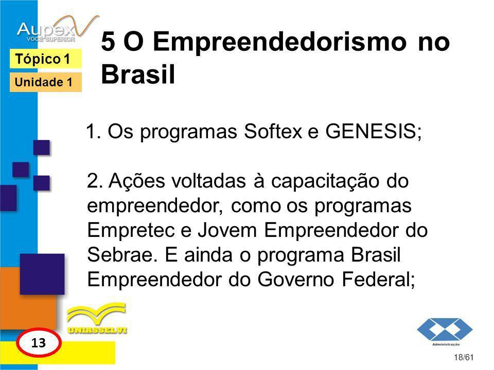 5 O Empreendedorismo no Brasil 3.