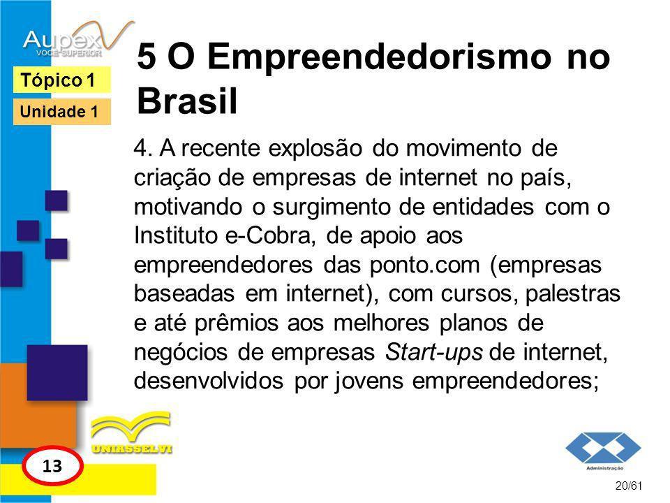 5 O Empreendedorismo no Brasil 5.