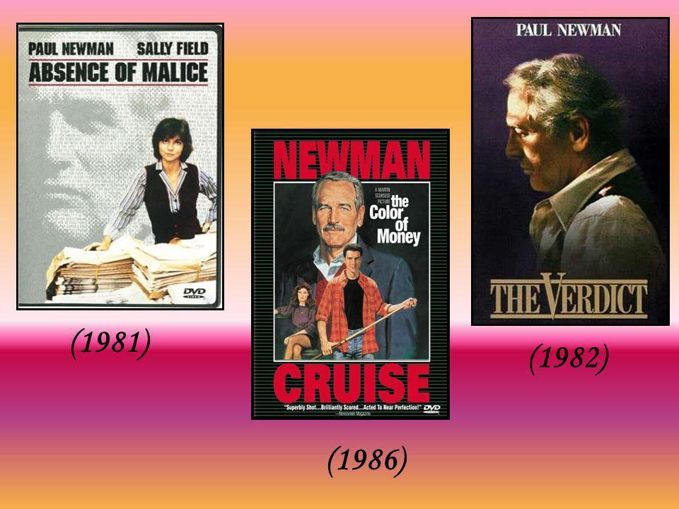 O único Oscar de sua vida só viria em 1986, por A Cor do Dinheiro, filme sobre jogadores, dirigido por Martin Scorsese, em que Newman contracenou com