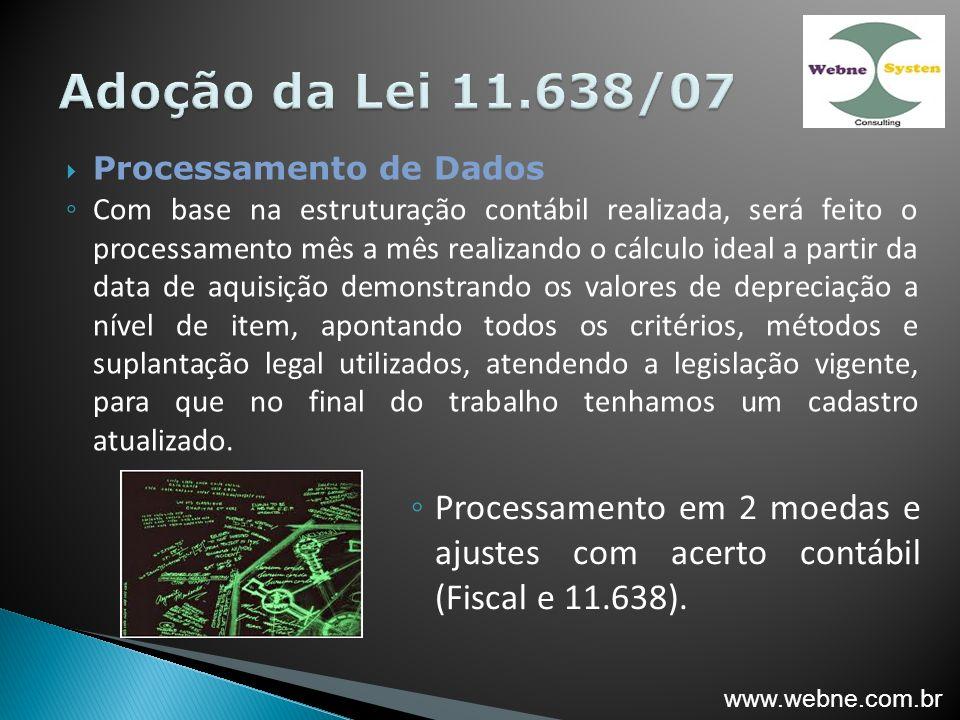 Processamento em 2 moedas e ajustes com acerto contábil (Fiscal e 11.638).