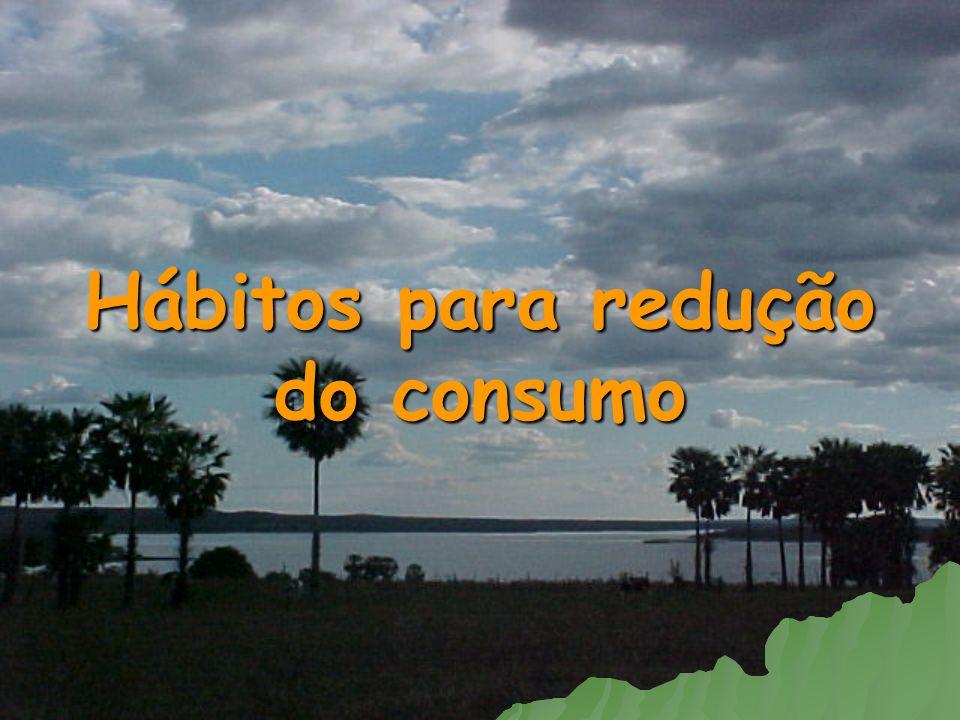 Hábitos para redução do consumo