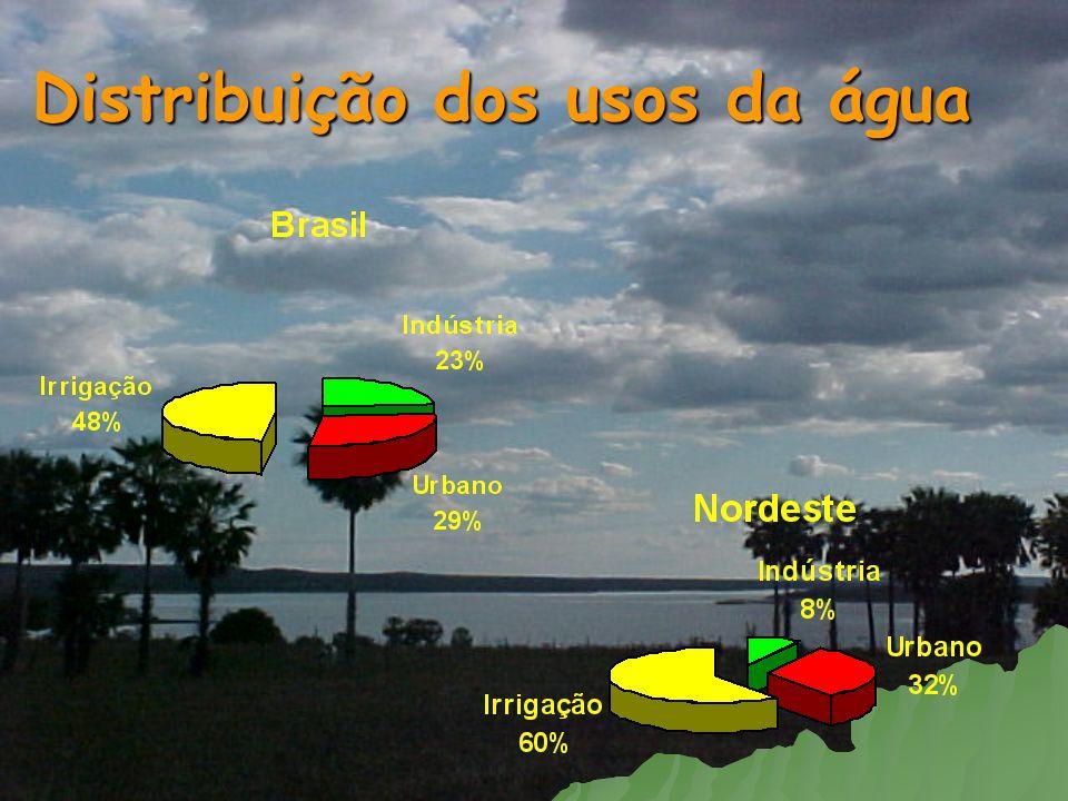Distribuição dos usos da água