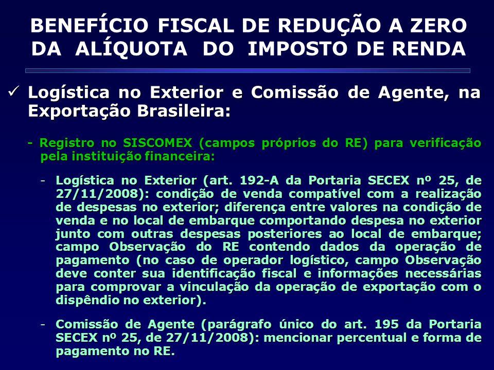 Logística no Exterior e Comissão de Agente, na Exportação Brasileira: Logística no Exterior e Comissão de Agente, na Exportação Brasileira: - Registro