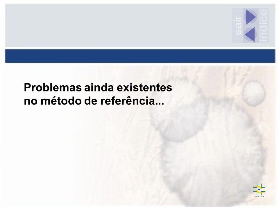 Problemas ainda existentes no método de referência...
