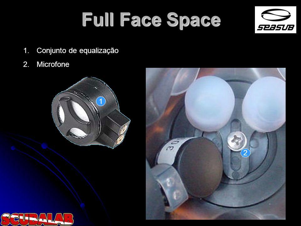 Full Face Space 1. Conjunto de equalização 2. Microfone 1 2