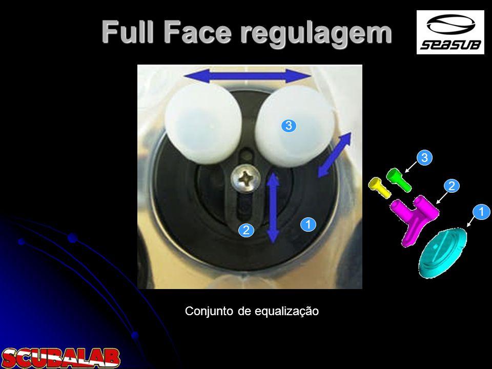 Full Face regulagem Conjunto de equalização 3 2 1 1 2 3