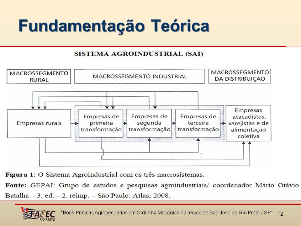 Fundamentação Teórica 12 Boas Práticas Agropecuárias em Ordenha Mecânica na região de São José do Rio Preto / SP