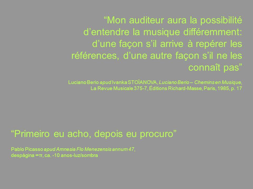 duas linhas-de-força da análise musical: detecçãoespeculação = constatatória = ela mesma inventiva passiva ativa ouve-se lá o que lá há para se ouvir ouve-se lá o que a partir de lá pode-se ouvir