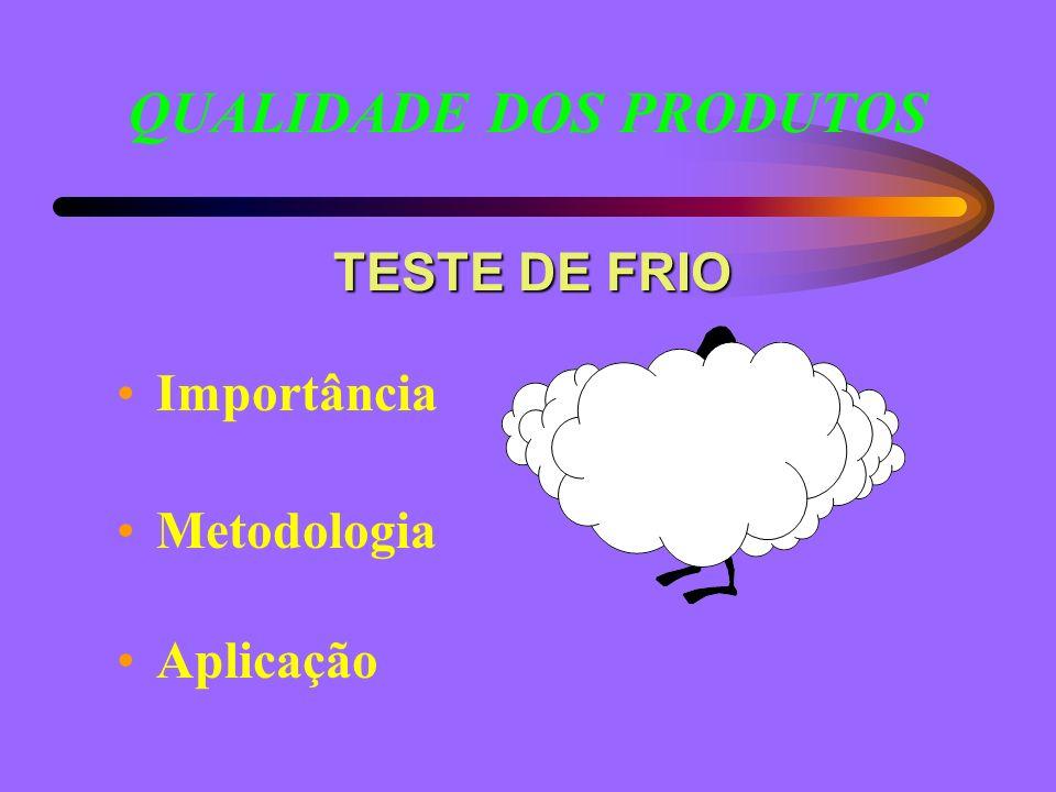 TESTE DE FRIO Importância Metodologia Aplicação