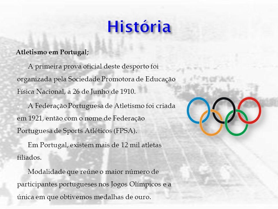 Atletismo em Portugal; A primeira prova oficial deste desporto foi organizada pela Sociedade Promotora de Educação Física Nacional, a 26 de Junho de 1