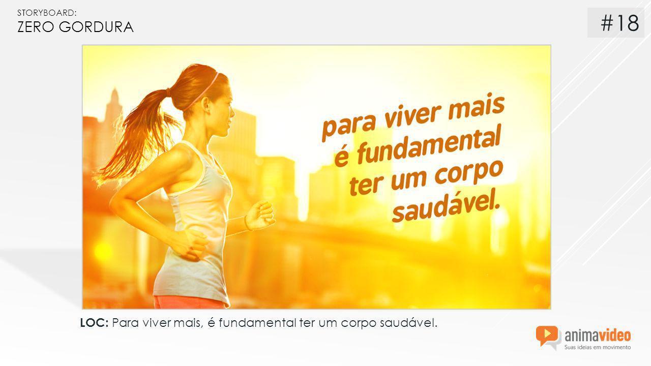 STORYBOARD: ZERO GORDURA LOC: Para viver mais, é fundamental ter um corpo saudável. #18