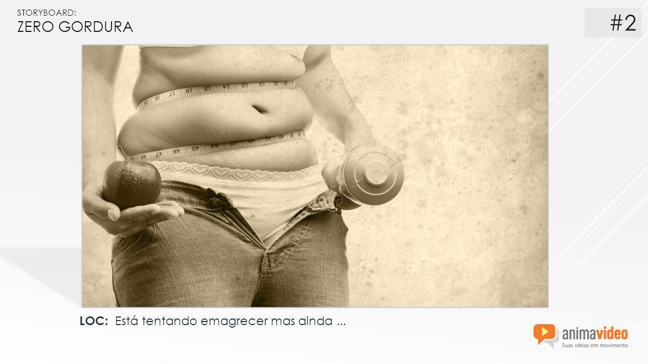 STORYBOARD: ZERO GORDURA LOC: Está tentando emagrecer mas ainda... #2