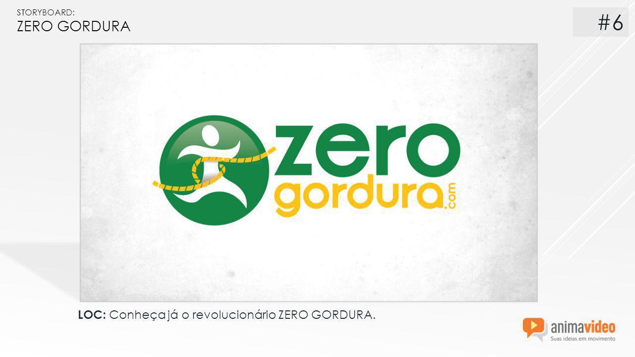 STORYBOARD: ZERO GORDURA LOC: Conheça já o revolucionário ZERO GORDURA. #6