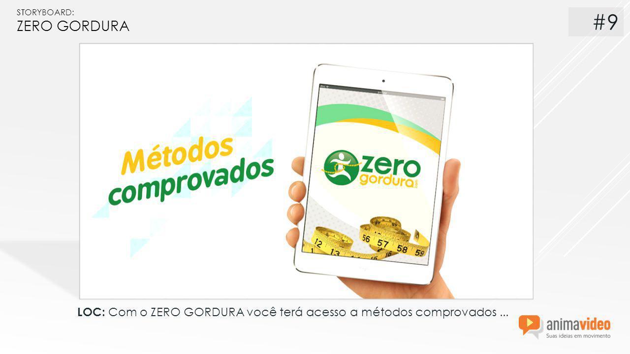 STORYBOARD: ZERO GORDURA LOC: Com o ZERO GORDURA você terá acesso a métodos comprovados... #9
