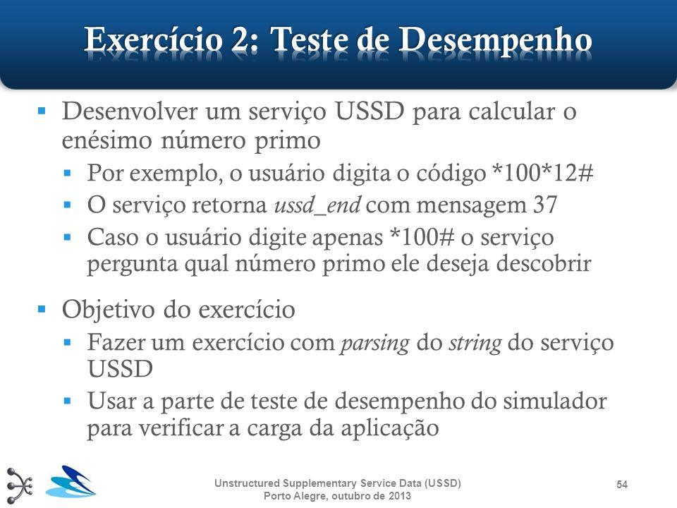 Desenvolver um serviço USSD para calcular o enésimo número primo Por exemplo, o usuário digita o código *100*12# O serviço retorna ussd_end com mensag